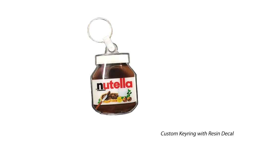 Custom Keyring With Resin Decal