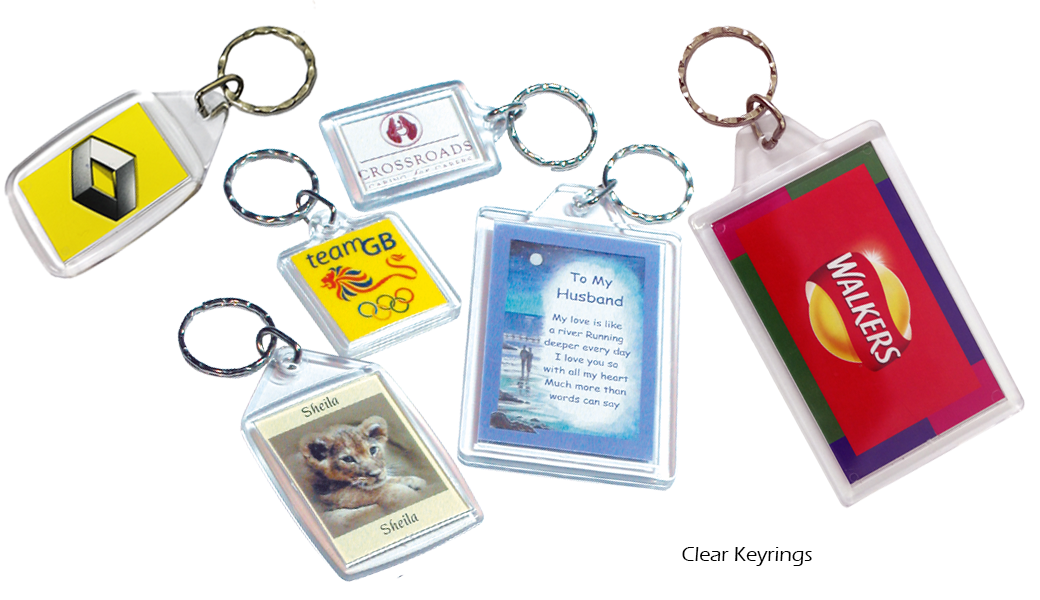 Clear Keyrings